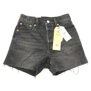 Levi's Wedgie Black High Rise Denim Shorts
